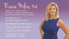 Milne's app, My Relationship Coach, offers convenient coaching for her clients around the world available on Google Play for Android and at the App Store on iTunes for Apple iOS.