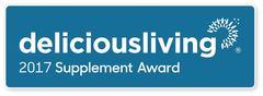 Delicious Living 2017 Supplement Award Logo
