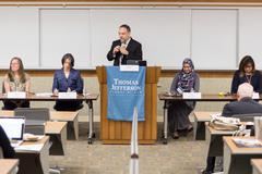 Thomas Jefferson School of Law Professor Kaimipono Wenger moderating the first panel