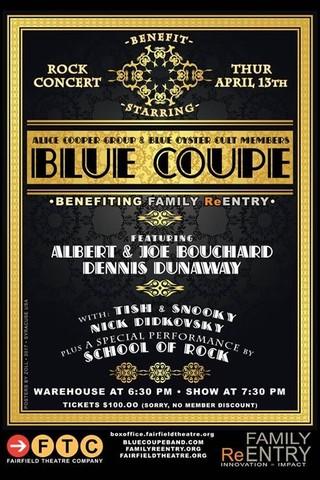 Blue Coupe Benefit Concert Flyer