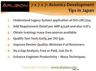 7 x 7 x 7 = $5,000,000?  AFuzion's Avionics Development Tips save Japan $5M