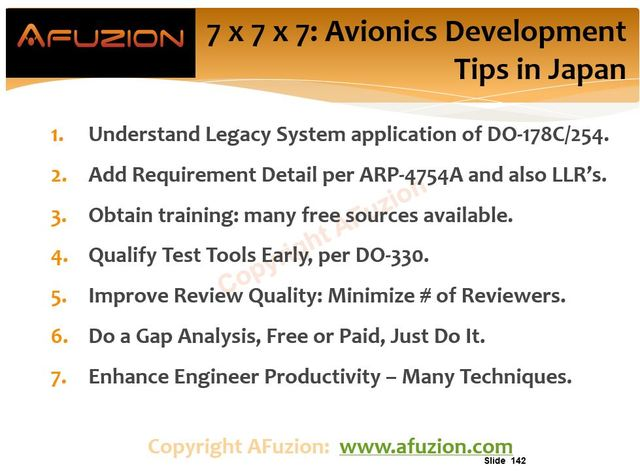 Top 7 Tips for Avionics Development:  Success in Japan from AFuzion