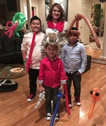 Ashley Milburn with her three children around Christmastime. At this time, Ashley had been working with Orthopaedic Specialists for around 6 months and was helping patients and translating paperwork.
