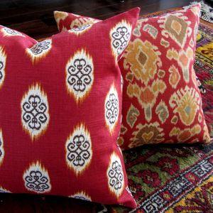 Decorative Ikat pillows from www.pillowsforhope.com
