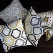 Modern retro throw pillows from www.pillowsforhope.com