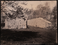 Enlarged Erie Canal tintype made in Cohoes, NY