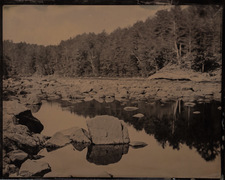Hudson River tintype made in North River NY by Craig Murphy and Glens Falls Art tintype studio