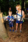 Parents and kids like climbing together at The Adventure Park. (Photo: Outdoor Ventures)