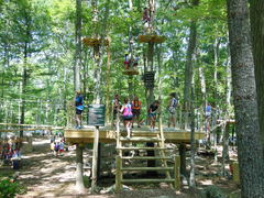 The starting platform at The Adventure Park at Storrs. (Photo: Outdoor Ventures)