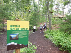 Visitors can enjoy the interpretive paths that wind their way through The Adventure Park beneath the treetop elements. Interpretive signs tell of Cape Cod flora and fauna. (Photo: Outdoor Ventures)