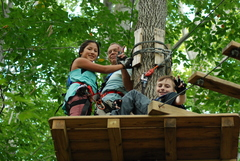 Celebrate Arbor Day weekend zipping and climbing in the trees together and help our nation's forests. (Photo: Outdoor Ventures)