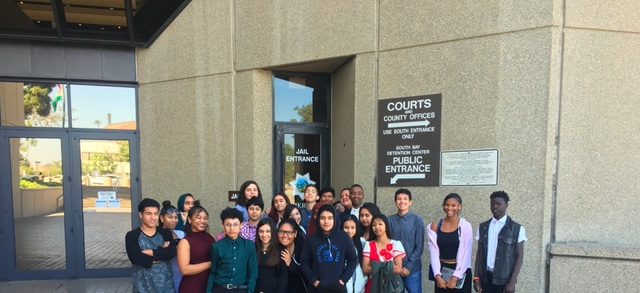 CLIMB students at San Diego County Court House