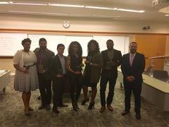 Professor Maurice Dyson with CLIMB program coordinators and board members