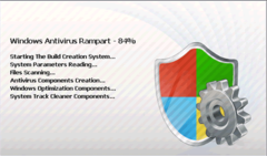 If you see this window pop up, Windows Antivirus Rampart is getting ready to run its scanner.
