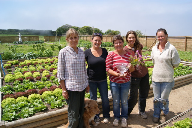 The award-winning gardeners at Sark Estate Management's kitchen gardens work in the gardens and greenhouses all year and their produce supplies four of the hotels within the Sark Island Hotels group