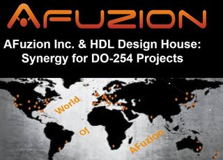 AFuzion Inc. & HDL Design House Join for DO-254 Avionics Hardware Synergy
