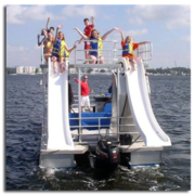 Kids love a double-decker pontoon boat in Destin, FL.