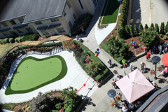 Brand new putting green on Menno Place's 11-acre campus