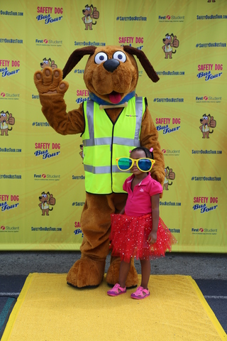 The First Student Safety Dog Bus Tour will stop in eight locations.