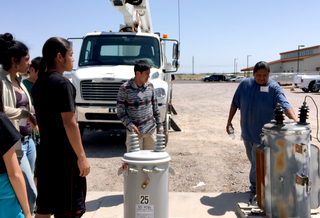 Students From Intertribal Energy Tour To Study Pelton Round Butte Passage