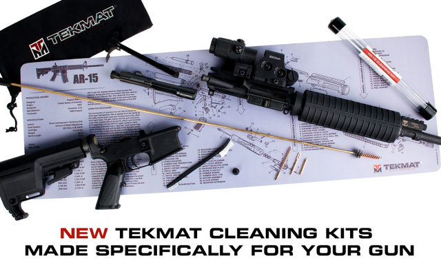 ar-15 caliber specific cleaning kit and mat
