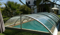 retractable pool enclosures model B