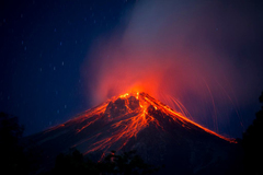 Volcán de Fuego - one of the most active volcanoes