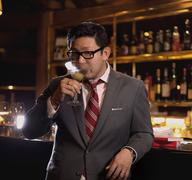 Chubby Hubby founder Aun Koh enjoying a drink