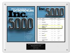 Inc. 5000 plaque