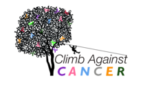 The logo for The Adventure Park at Long Island's Climb Against Cancer event, October 5, 2017. (PNG file with transparent background)