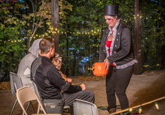 Haunted Forest visitors will be presented with golden tokens to trade for prizes.