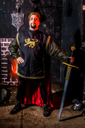 """""""The Knight In Shining Armor"""" can grant Adventure Park Knighthoods to Haunted Forest visitors."""