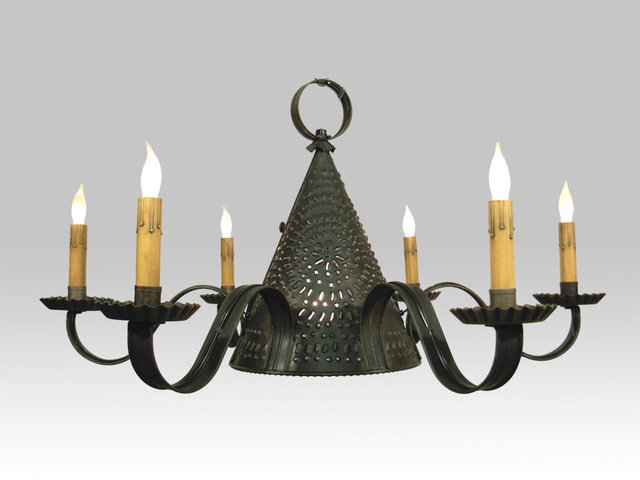 A Sturbridge Pierced Tin Chandeliler, one of the fixtures that will appear in Twelve Years a Slave