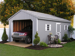 The Early Portable Garages at Sheds Unlimited