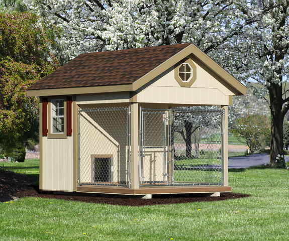 A Residential Outdoor Dog Kennel