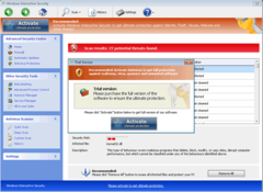 The trial version of Windows Interactive Security will not help you remove spyware.