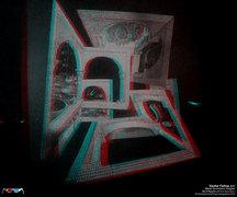 Escher Falling - Hologram by Al Razutis