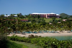 The Buccaneer's historic Great House overlooks one of three beaches.