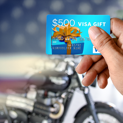 Online motorcycle retailer RumbleOn wants to thank our heroes and give them a gift of a $500 Visa Gift Card, free merch, and a handwritten thank you note.