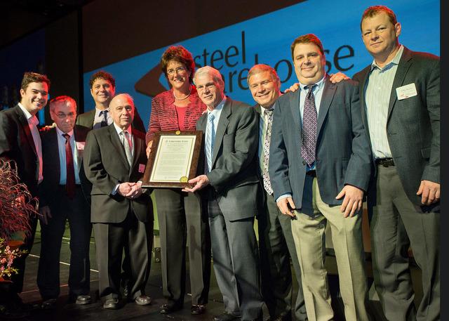 (left to right): Nathan Lerman, Gerry Lerman, Danny Lerman; Mike Lerman; Indiana Congresswoman Rep. Jackie Walorski; Dave Lerman; Ted Lerman; Marc Lerman, CCO,; Bill Lerman