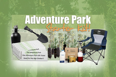 "The Adventure Park Starter Kit is for laughs-- For those who want to ""get real"" more affordable gifts await on the Park's website."