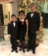 Dr. Stacie Grossfeld attends the 2017 Business First Award Ceremony with her husband Karl Dockstader and son Adam.