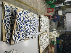 Football parts are in production and ready to be assembled