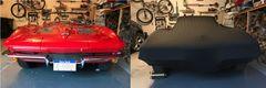 Corvette under a Black Satin Shield Cover