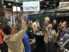Quantum Zip Line System attracted quite a bit of attention at the opening of the ACCT Conference in Forth Worth, Texas