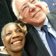 Denise Paul Hatch with 2016 Democratic candidate for President, US Senator Bernie Sanders, during his campaign stop in Indianapolis.
