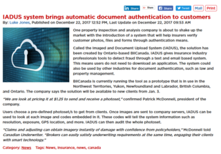 IADUS system to brings automatic document authentication to customers