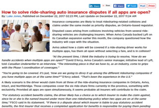 How ride-sharing auto insurance disputes will be solved if all apps are open?