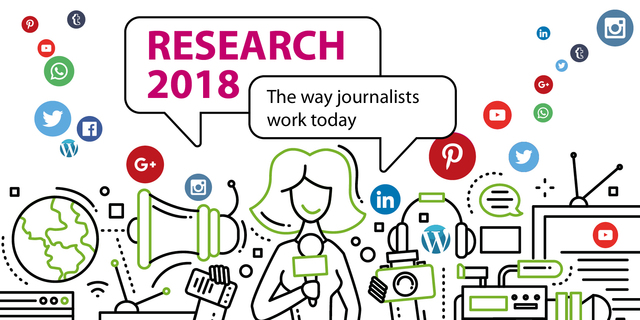 "news aktuell survey ""Research 2018"": The way journalists work today"