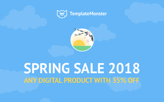 TemplateMonster Spring 2018 Sale. Save 35% on Any Theme